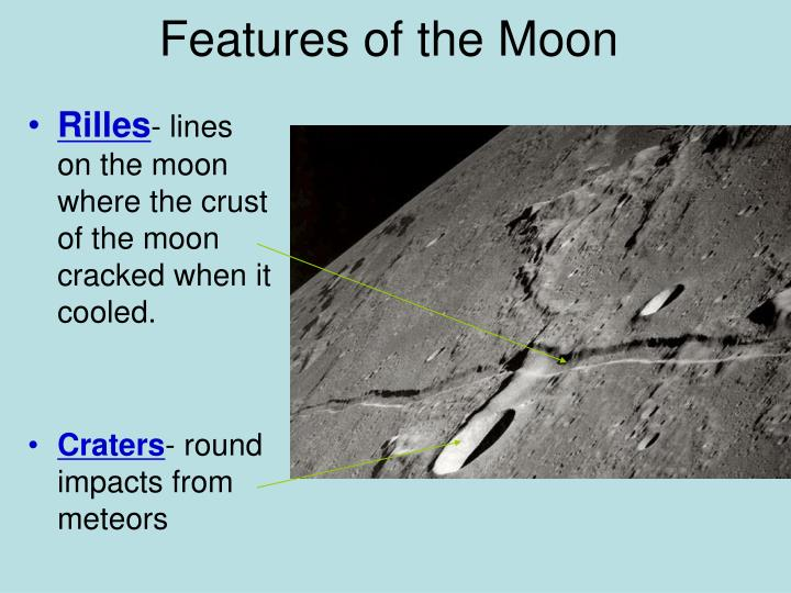 Features of the Moon