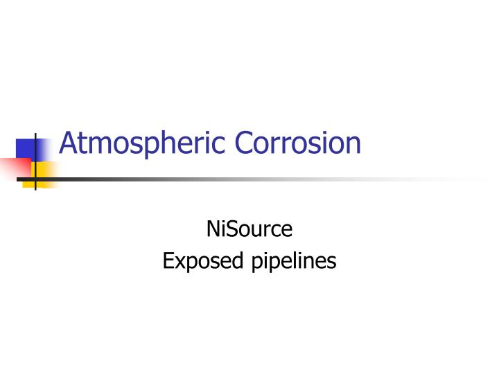 atmospheric corrosion n.
