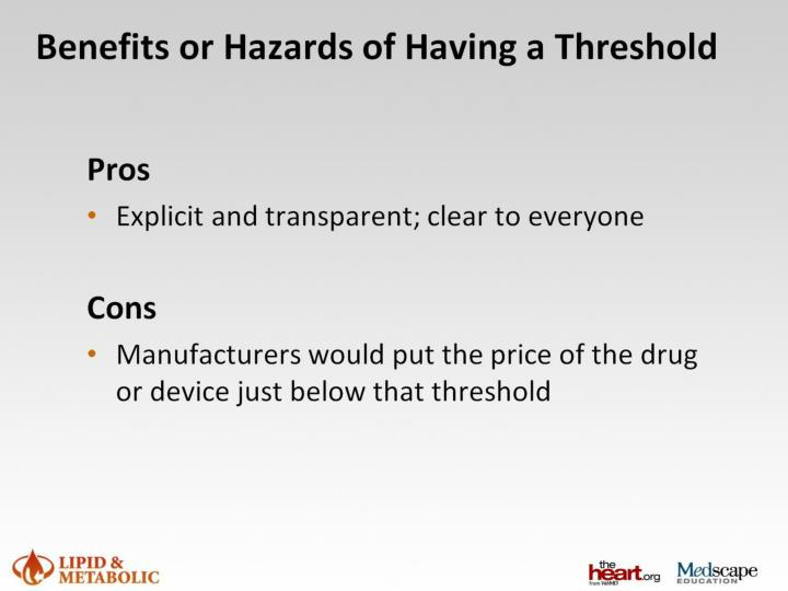 Benefits or Hazards of Having a Threshold