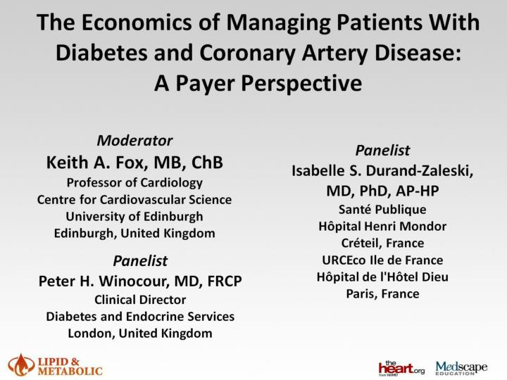 The economics of managing patients with diabetes and coronary artery disease a payer perspective