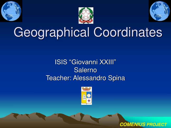 geographical coordinates n.