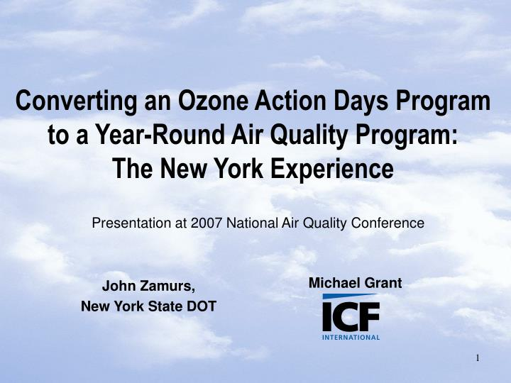 converting an ozone action days program to a year round air quality program the new york experience n.