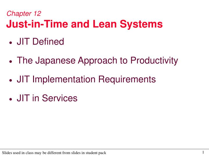 describe the concept of jit and Associated with japanese management techniques, just-in-time production (jit) is a set of principles and practices based on the philosophy that firms should hold little or no inventory beyond that required for immediate production or distribution.