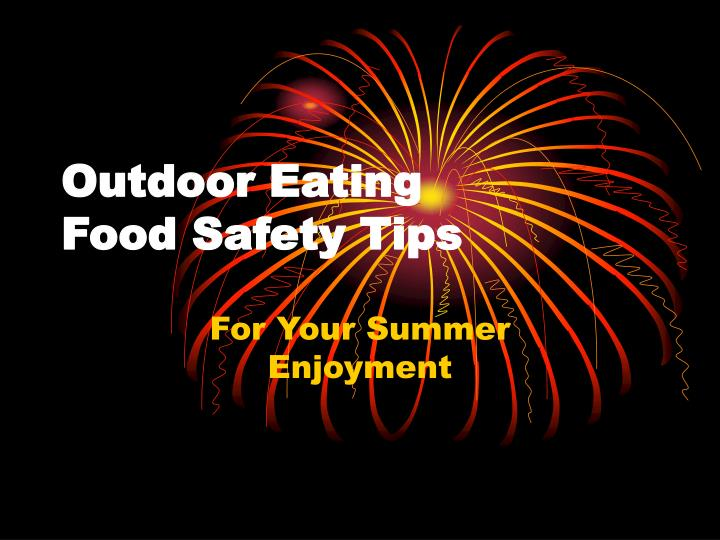 outdoor eating food safety tips n.