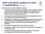 qaa in scotland guidance on level 11 qualifications i like this