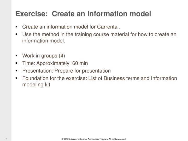 Exercise create an information model