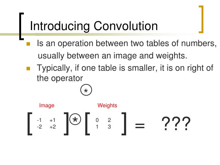 introducing convolution n.