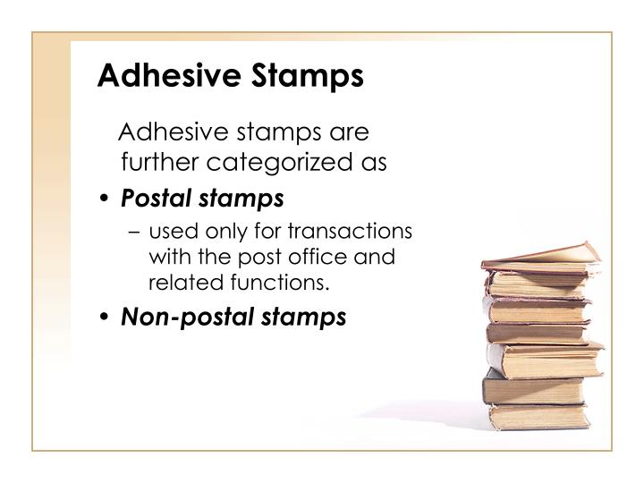 Adhesive Stamps