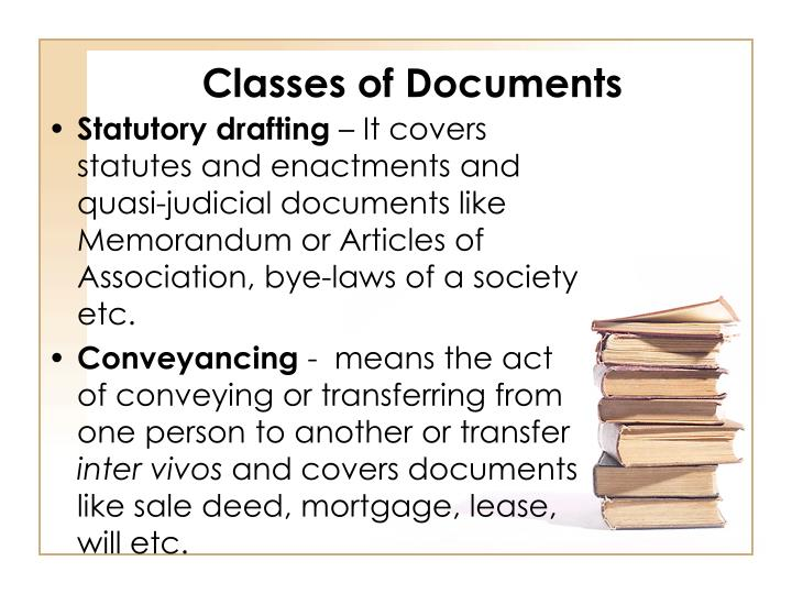 Classes of Documents