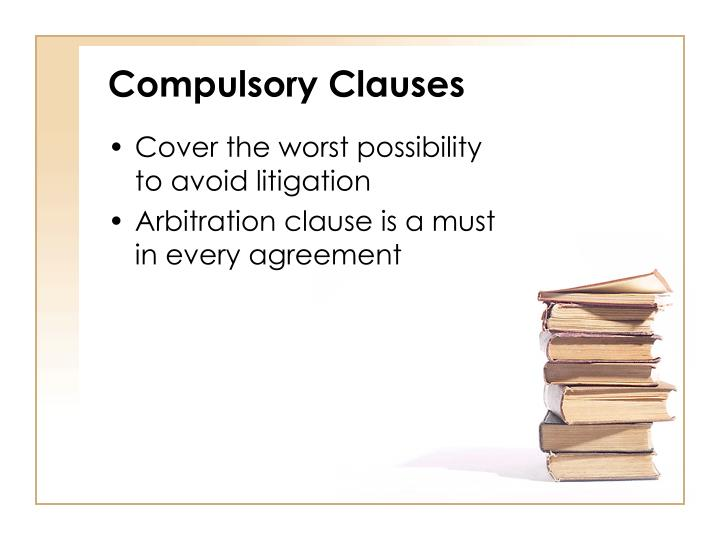 Compulsory Clauses