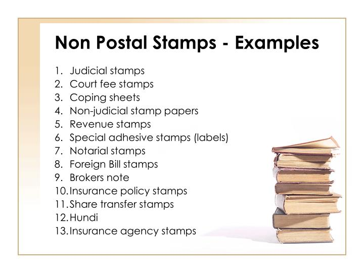 Non Postal Stamps - Examples