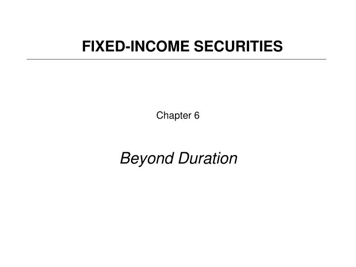 chapter 6 beyond duration n.