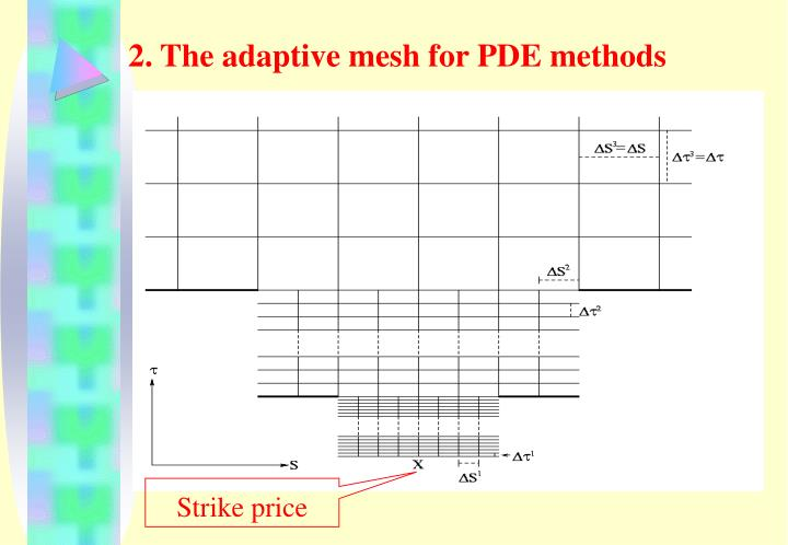 2. The adaptive mesh for PDE methods