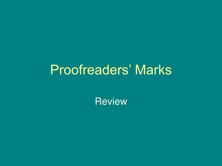 proofreaders marks n.
