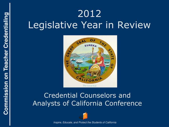 2012 legislative year in review n.