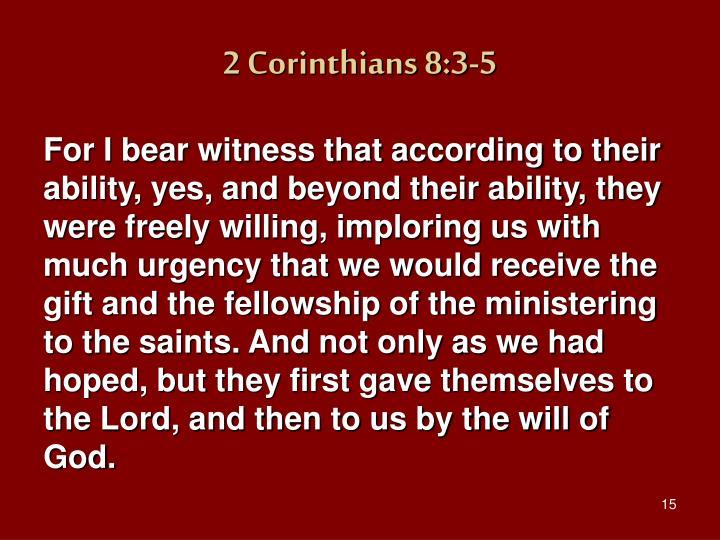 2 Corinthians 8:3-5