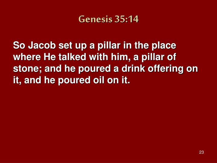 Genesis 35:14