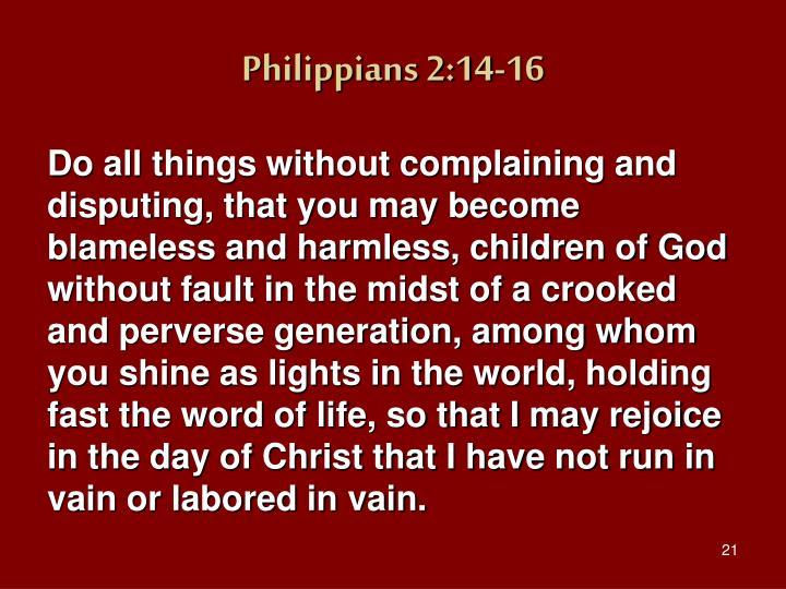 Philippians 2:14-16