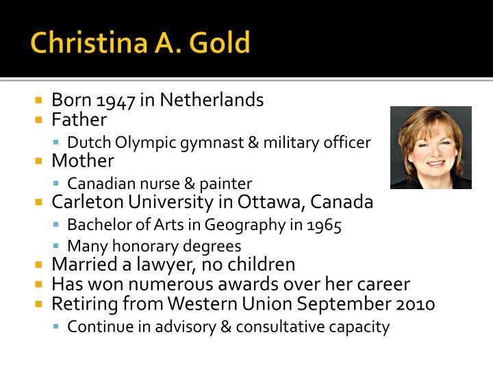 Christina a gold