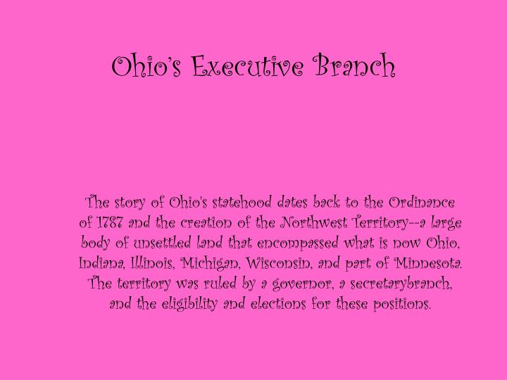 ohio s executive branch n.