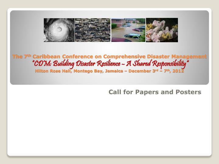 call for papers and posters n.
