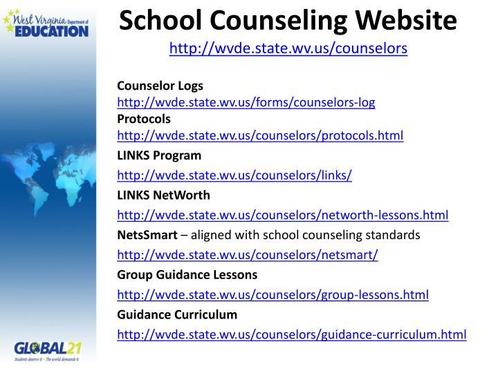 School Counseling Website