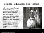 science education and realism