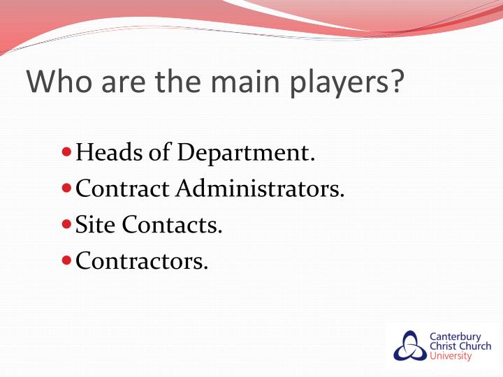 Who are the main players?