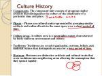 culture history1