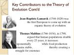 key contributors to the theory of evolution cont d5