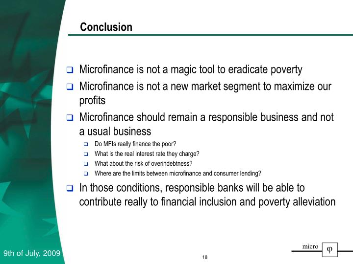 Microfinance is not a magic tool to eradicate poverty