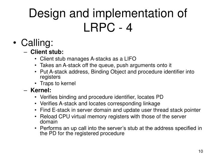 Design and implementation of LRPC - 4