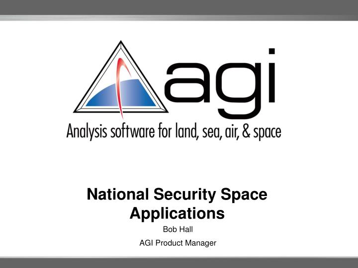 national security space applications n.