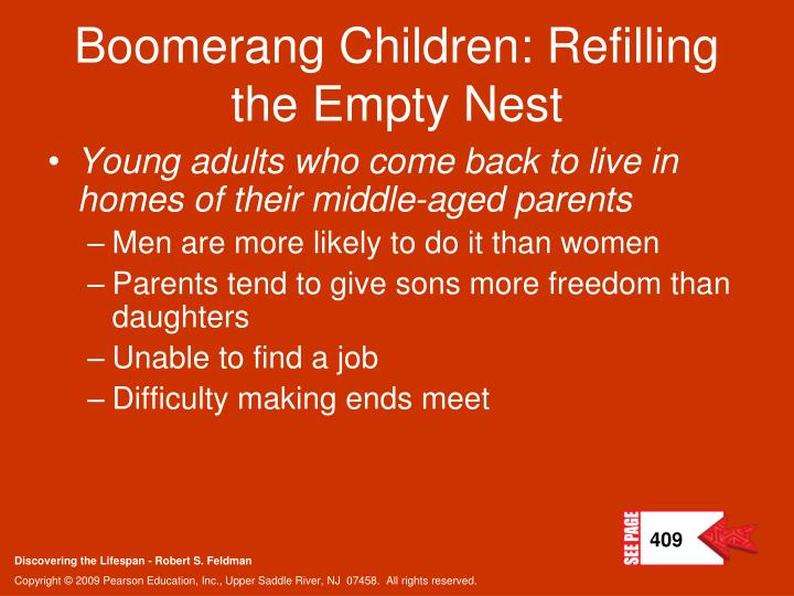 Boomerang Children: Refilling the Empty Nest