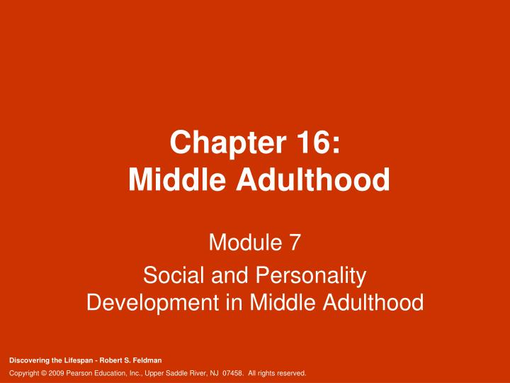Chapter 16 middle adulthood