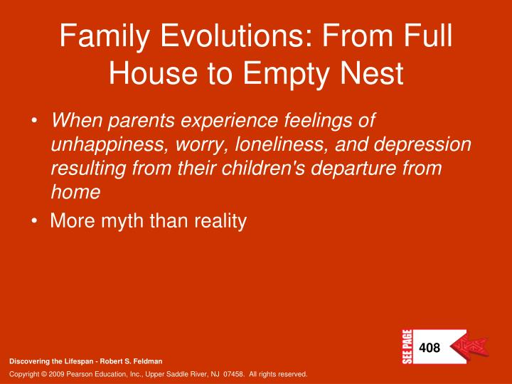 Family Evolutions: From Full House to Empty Nest