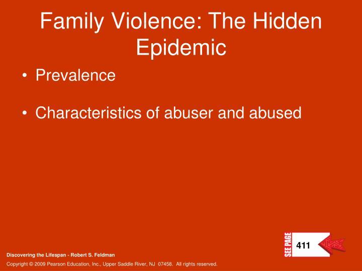Family Violence: The Hidden Epidemic