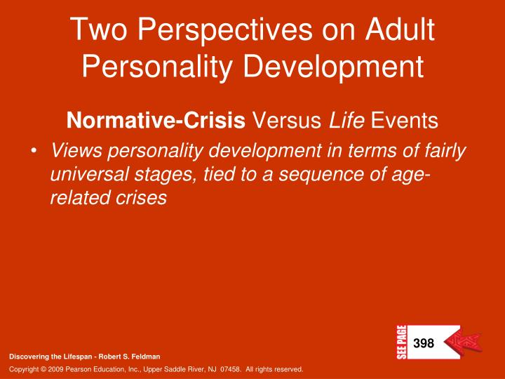 Two Perspectives on Adult Personality Development
