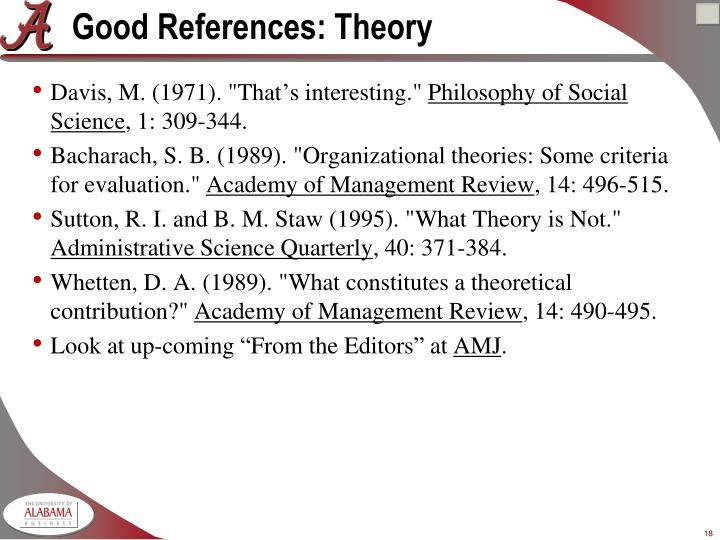 Good References: Theory