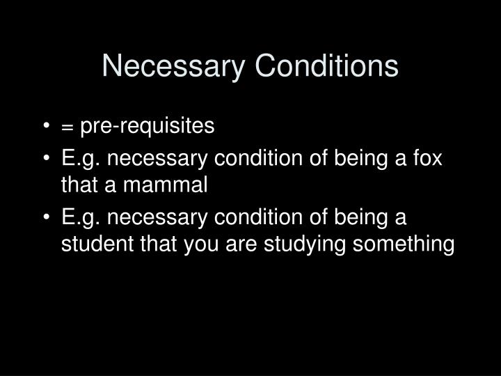 Necessary Conditions