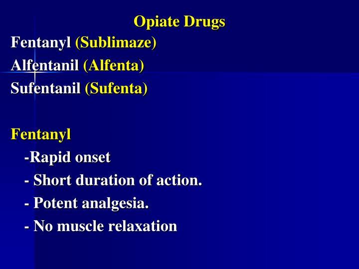 Opiate Drugs
