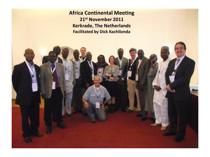 Africa Continental Meeting