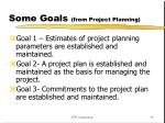 some goals from project planning