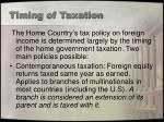 timing of taxation