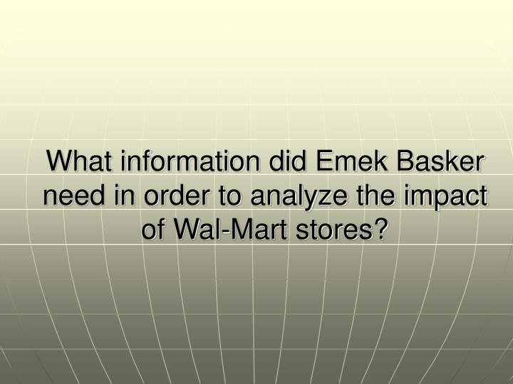 the negative impact wal mart has on a community The economic impact of wal-mart supercenters on existing businesses in mississippi kenneth e stone1 georgeanne artz2 albert myles34 introduction while there is much anecdotal evidence to.