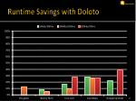 runtime savings with doloto