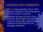 looking for cognates