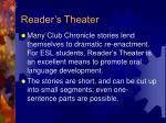 reader s theater