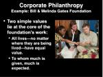 corporate philanthropy example bill melinda gates foundation