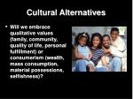 cultural alternatives
